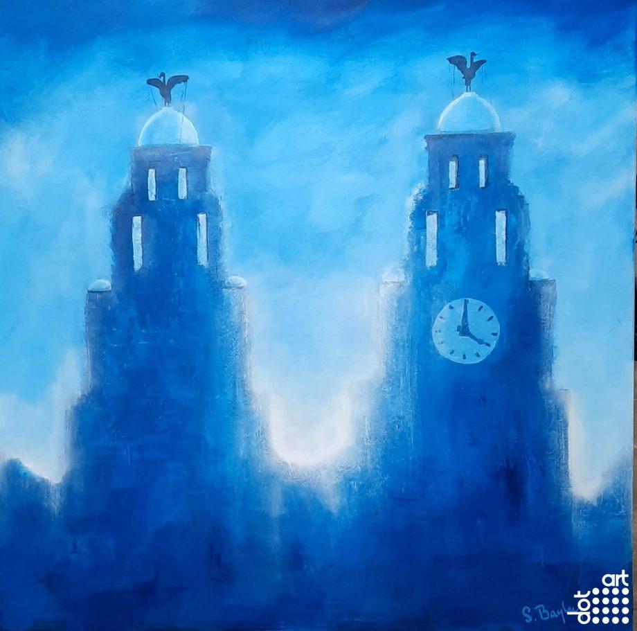 Royal Liver Buildings in Blue-Steve-Bayley