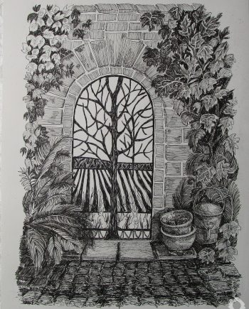 Norton Priory Garden Gate - Jean Worth