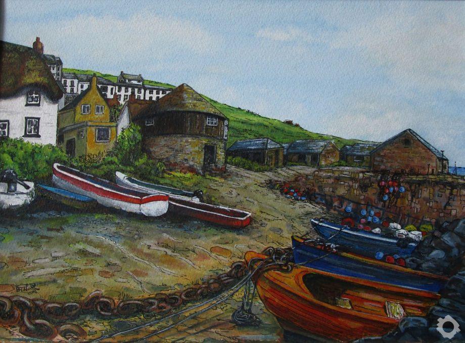 Sennan Cove 51×40 Watercolour