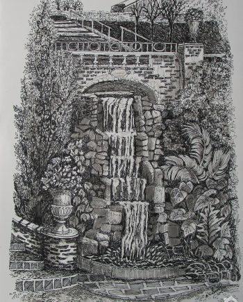 Waterfall Portmeirion - Jean Worth