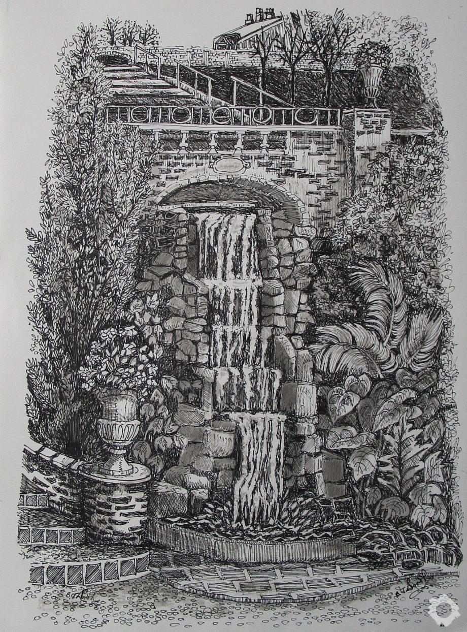 Waterfall Portmeirion – Jean Worth