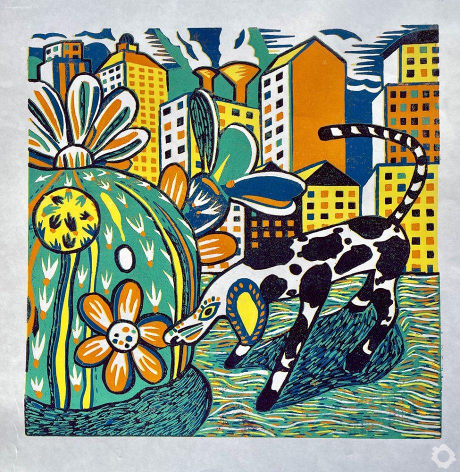 Oxaca Dog & Cactus No2 – Vincent Kelly