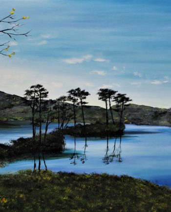 new day on loch assynt - hazel thompson