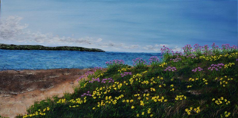 sea thirft and gorse on hilbre Island – hazelthompson
