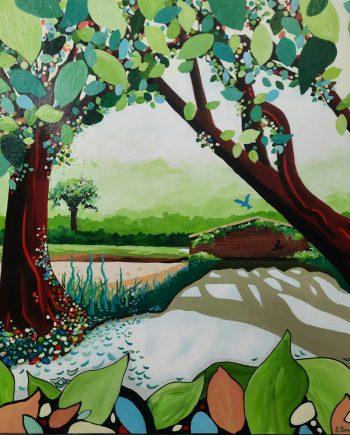 Little Bridge (Calderstones Park)-Steve-Bayley