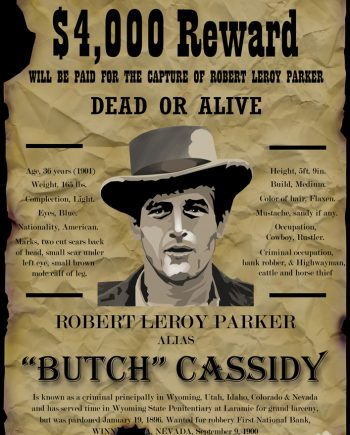 Butch Cassidy Wanted Poster-Alexandera-Finnie