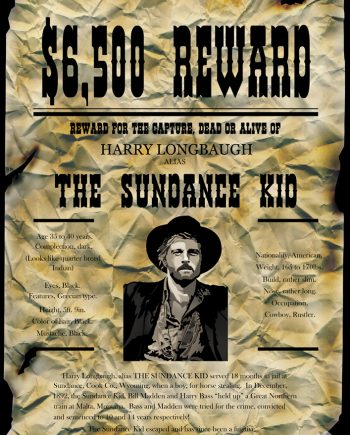 The Sundance Kid wanted posterAlexandera-Finnie
