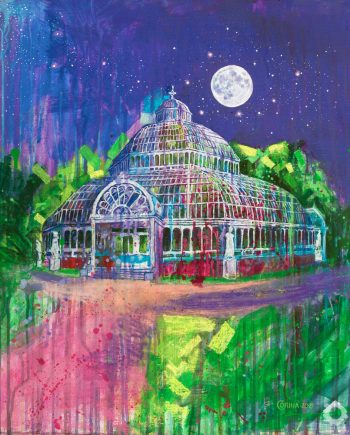 Palm House By The Light Of The Silvery Moon - Alex Corina